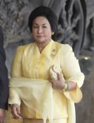 Malaysia's PM Razak and wife Rosmah Mansor arrive at the Bali Nusa Dua Convention Center before the opening ceremony of the ASEAN Summit in Nusa Dua, Bali