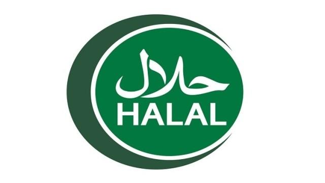 halal logo emblem vector Halal sign certificate tag